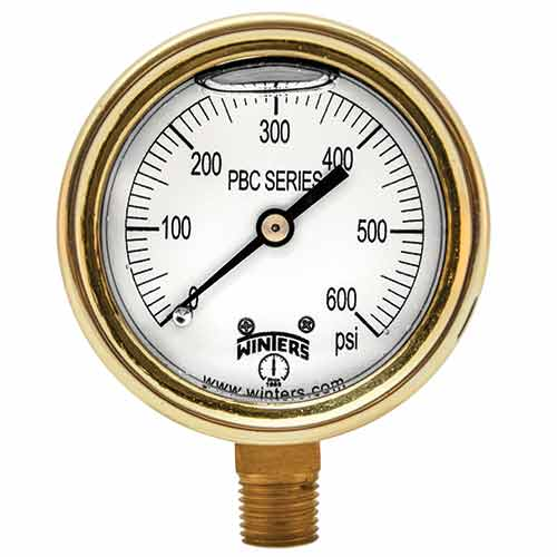 PBC FORGED BRASS CASE PRESSURE GAUGE
