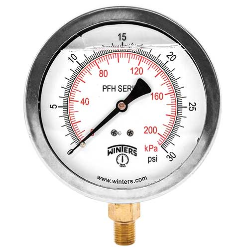 PFH HYDRAULIC STAINLESS STEEL LIQUID FILLED PRESSURE GAUGE