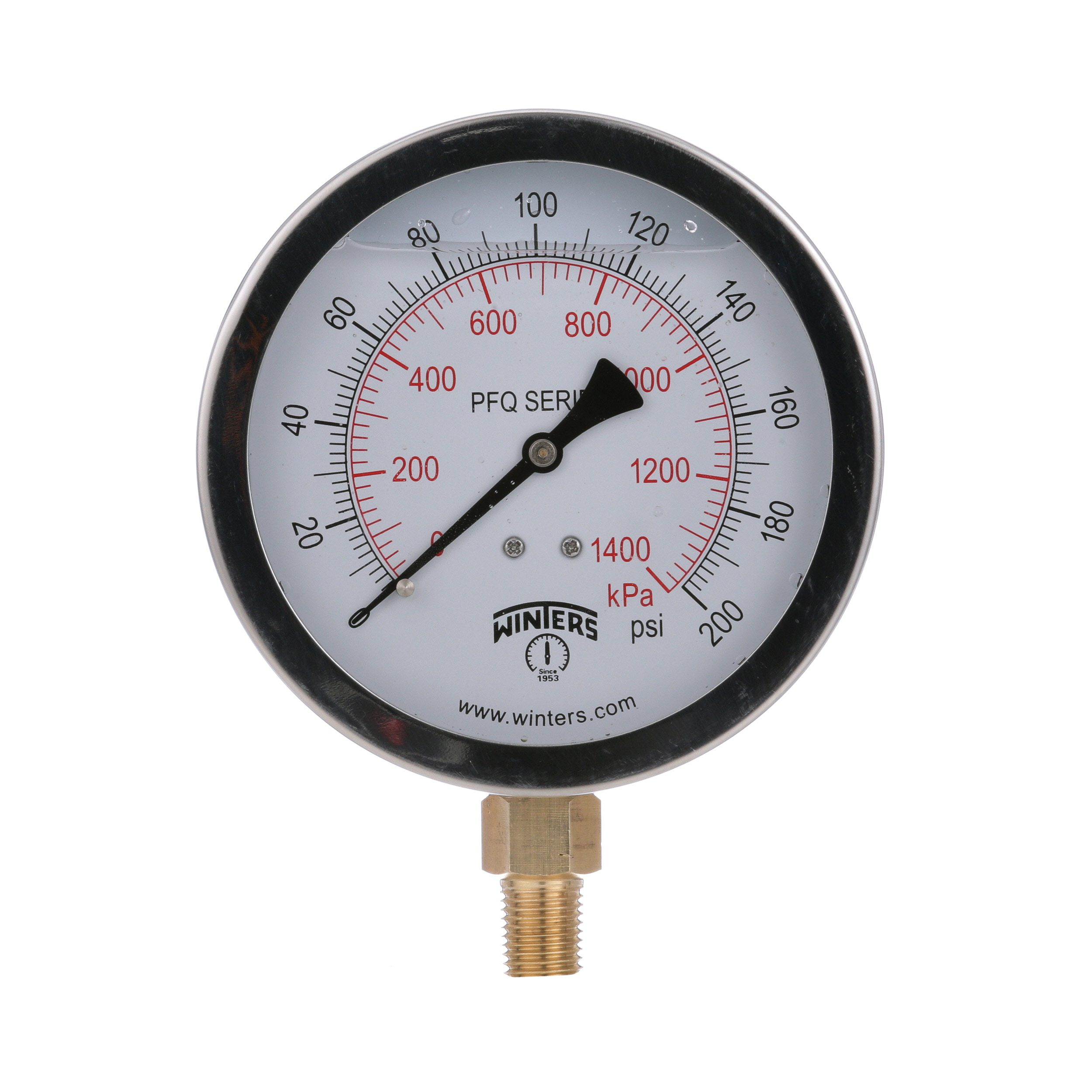 PFQ STAINLESS STEEL LIQUID FILLED PRESSURE GAUGE / PFQ-LF LEAD FREE SS LIQUID FILLED PRESSURE GAUGE